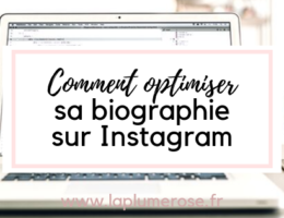 Optimiser sa biographie instagram